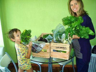 unpacking organic veg