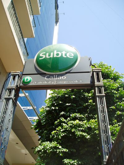 Subway stop Buenos Aires